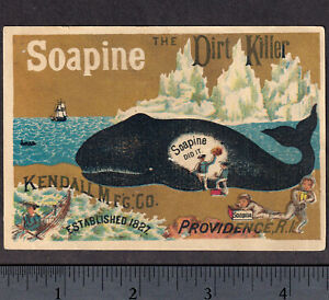 Arctic Whale Ship 19th Century Providence Soapine Soap Advertising Trade Card