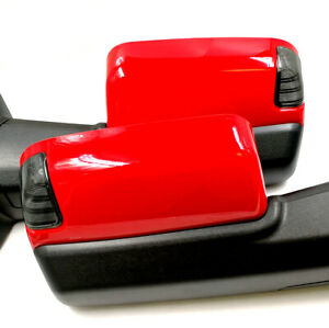 Painted Pr4 Red For 09 12 Dodge Ram Power Heated Puddle Led Signal Tow Mirror