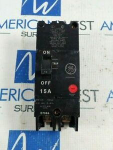 General Electric Tey215 2 Pole Circuit Breaker 15a 480 277v