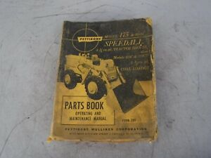 Pettibone Model 175 175d Speedall Loader Parts Operating Maintenance Manual