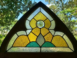 Antique Gothic American Stained Glass Window