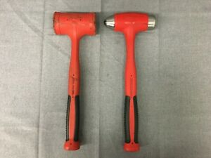 Snap on Hbbd40 40 Oz Ball Peen Hbfe48 48 Oz dead Blow Soft Grip Hammer Red