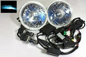 7 Round H6024 Projector Jdm Headlights 10000k Blue Slim Hid Conversion Kit