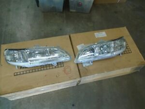 Pair L R Eagle Eye Headlights Fits 1998 2002 Honda Accord Clear Corner