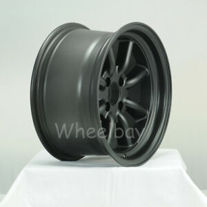 4 Rota Wheel Rkr 15x8 0 4x114 3 Mag Black 240z Ae86