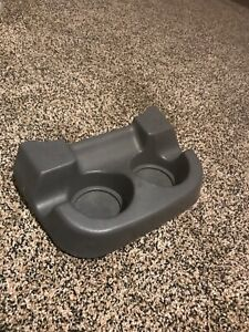 00 05 Ford Excursion F250 F350 Front Floor Center Console Front Cup Holder Gray
