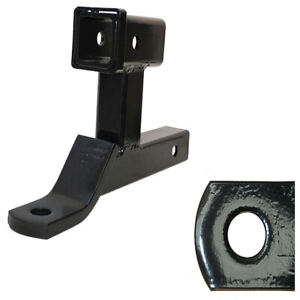 Hd Hitch Ball Mount Dual Extension Trailer Receiver Extender Adapter Towing