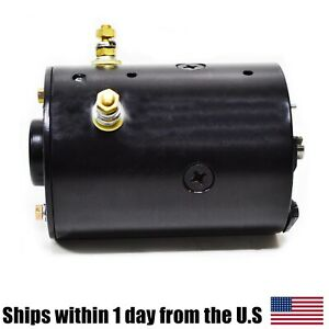 Snow Plow Motor Slotted Shaft 12v For Prestolite Ccw 46 4175 Mue6202a