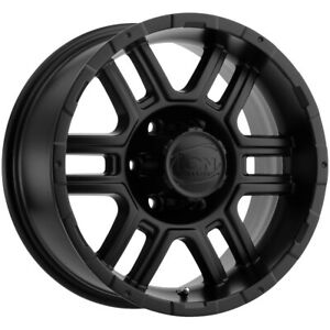 4 ion 179 16x8 6x4 5 10mm Matte Black Wheels Rims 16 Inch