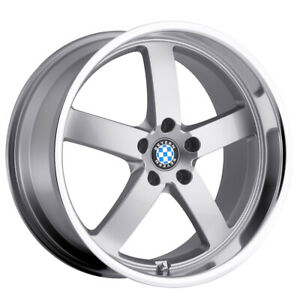 Staggered Beyern Rapp Front 18x8 5 Rear 18x9 5 5x120 Silver Wheels Rims