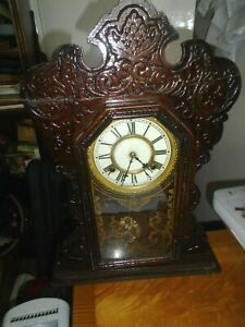 Antique American Waterbury Ginger Bread Clock