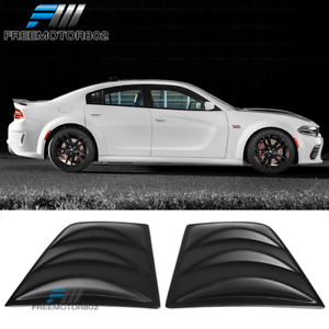 Fits 11 20 Dodge Charger V3 Style Window Scoop Side Louver Cover Matte Black Pp