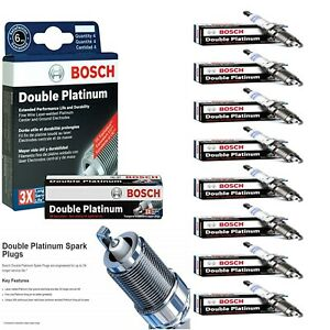 8 Double Platinum Spark Plugs For 1996 2004 Ford Mustang V8 4 6l