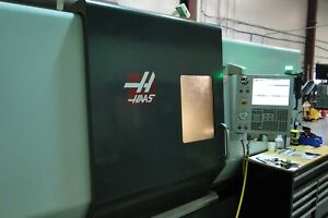 2013 Haas Cnc Lathe Model St 40 55hp Used Refurbished W tail Stock Chip