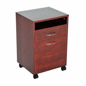 Mobile Printer Cart Brown Ample Storage Space Holds Files Etc Home Or Office New
