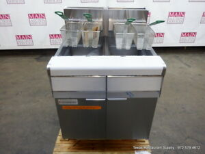 New Frymaster Fmj240 Propane Double Deep Fryer With Filtration System