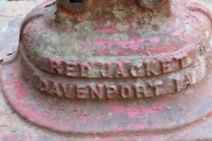 Antique Cast Iron Red Jacket L85 Davenport La Water Pump Base 3033