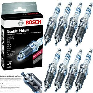 8 Bosch Double Iridium Spark Plug For 2003 2004 Ford Mustang V8 4 6l