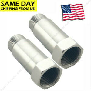 2x 02 Oxygen Sensor Extender Adapter Extension Spacer 55mm Hho O2 Bung Cel Fix