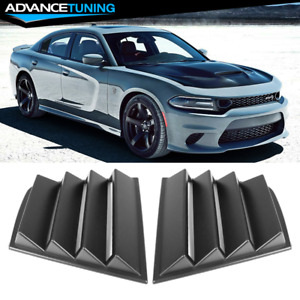 Fits 11 20 Dodge Charger V1 Style Window Scoop Side Louver Cover Matte Black Pp