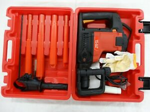 Hilti Te76 atc Concrete Rotary Hammer Drill With Case And Bits Kit