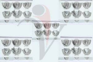 5 Sets Dental Impression Trays Autoclavable Metal Perforated Stainless Steel Sml