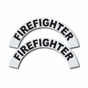 3m Reflective Fire rescue ems Helmet Crescents Decal Set Firefighter