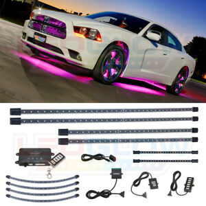 Ledglow 4pc Pink Led Underbody Kit 4pc Wheel Well 2pc Interior Lights Combo