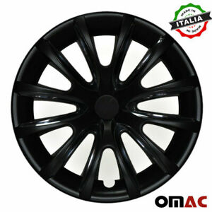 15 Inch Wheel Rim Cover Hubcap Matte Black On Black For Honda Civic 4pcs Set