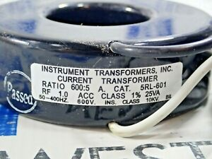 Instrument Transformer Inc 5rl 601 600 5 A Rf 1 0 25 Va 600v New