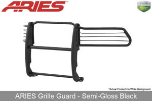 Aries Black Semi Gloss Grille Brush Guard Front 1 Piece 2009 2018 Dodge Ram 1500