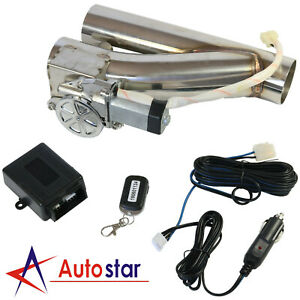 3 Electric Exhaust Downpipe Cutout E Cut Out Valve Controller Remote Kit Set