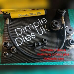 Dimple Die Set 6 Sizes Plus Matching Cutters And Hydraulic Ram Hole Swager Flare