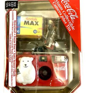 Coca Cola 35mm Collectible Camera plus Tin Rare New Coke Year 2000 Film Kodak