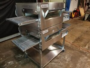 2013 Lincoln Impinger 1132 Dbl Stack Electric Conveyor Pizza Ovens video Demo