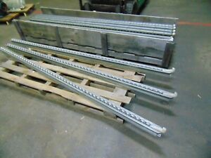 27 Pcs Of 9 Single Rail Flow Track Gravity Roller Conveyor With Stop Hooks
