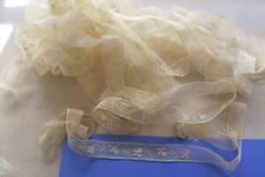 Vtg Cotton Insertion Lace Trim For Antique French German Bisque Doll Clothes