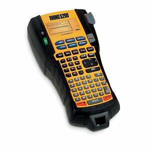 Label Maker Rhino 5200 Machine Time saving Hot Keys Industrial Prints Fast