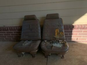 Chevelle Strato Bucket Seats 1968 1972 Gm Tracks Headrests Excellent Cores