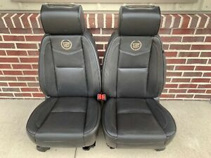 07 14 Cadillac Escalade Esv Platinum Front Bucket Seats Heated Cooled Oem Dvd