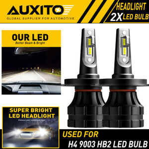 2x Auxito H4 9003 Hb2 20000lm Led Headlight High Low Beam 6000k Bulbs Z1 Eoa