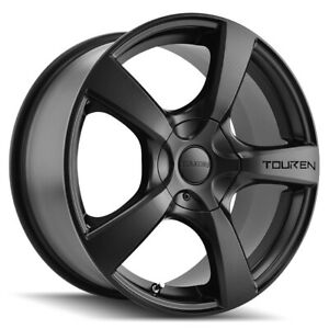 4 Touren Tr9 18x8 5x110 5x115 40mm Matte Black Wheels Rims 18 Inch