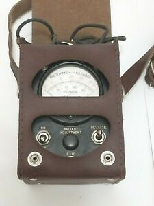 Simpson Vintage Ohm Megohm Kilohm Meter Leather Case Telephone Tester Ck08455l