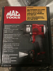Mac Tools High Performance 3 8 Dr Air Impact Wrench