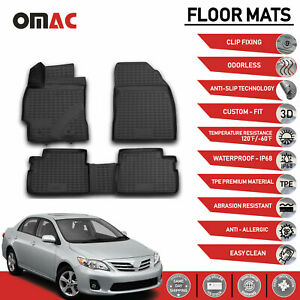 Floor Mats 3d Molded Fits Black For Toyota Corolla 2009 2013
