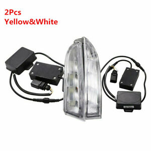 2 Color Led Drl For Vw Scirocco 2010 2013 Daytime Running Light W Signal Lamp