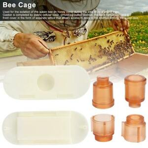 Plastic Bee Cage Bee Queen Cages Beekeeping Beekeeper Rearing Cup Kit Tools