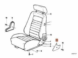 Genuine Oe Bmw 3 7 E21 E12 E28 Recaro Seat Adjusting Wheel Right Lower Covering