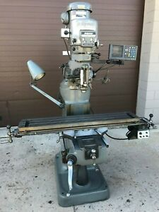 2000 Bridgeport 2hp Variable Speed Mill 48 Table Acurite Dro Power Feed Chrome