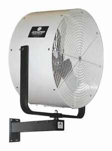 Schaefer Air Circulator Industrial Wall 36 Blade Dia 11 690 Cfm High